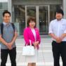 7/17 前田先生、青翔開智中学校を訪問 ★ 中1&2生対象に発音授業!