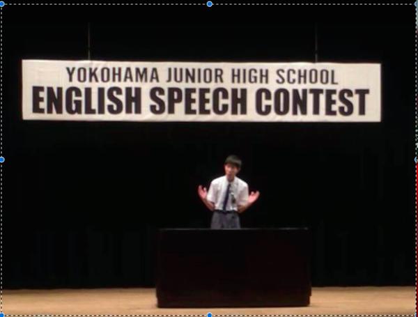 祝・中3生Kさん★ 横浜市中学校生徒英語弁論大会 本選出場