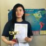 祝・高2生サエさん ★ 英語スピーチコンテスト最優秀賞受賞
