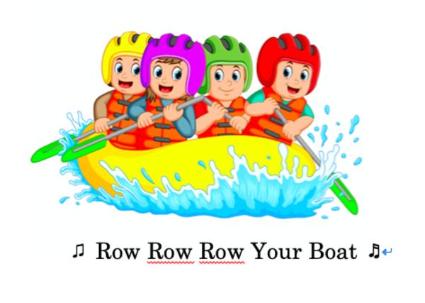 """発音レッスンビデオ ★ """" Row Row Row Your Boat""""  🎶"""