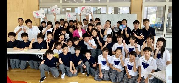 私立青翔開智中学校にて特別訪問授業 ★英語発音力を上げる!